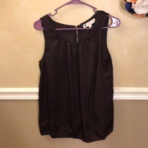 NWT Ann Taylor LOFT pleated zipper back top